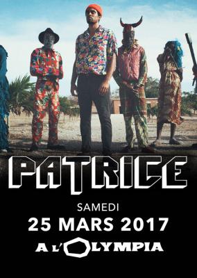 Patrice en concert à l'Olympia de Paris en mars 2017