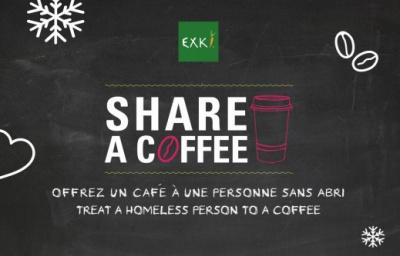 """""""Share a coffee"""" : EXKi offre un café pour les plus démunis"""