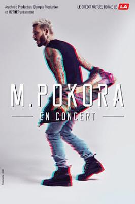M. Pokora en concert à l'Arena Bercy de Paris en décembre 2017