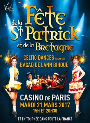 La Fête de la Saint Patrick et de la Bretagne 2017 au Casino de Paris