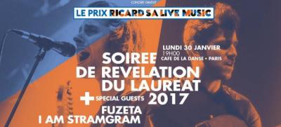 Prix Ricard SA Live Music : soirée de révélation du lauréat 2017 au Café de La Danse