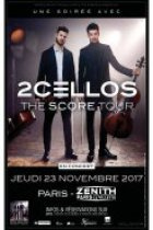 2Cellos en concert au Zénith de Paris en novembre 2017