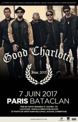 Good Charlotte en concert au Bataclan de Paris en juin 2017