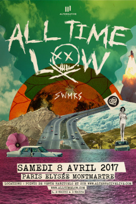 All Time Low en concert à L'Elysée Montmartre de Paris en avril 2017