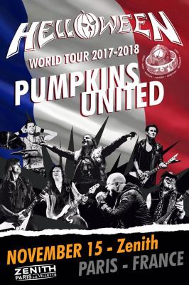 Helloween en concert au Zénith de Paris en novembre 2017