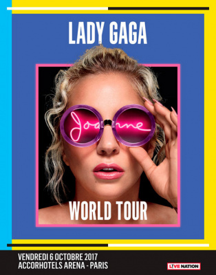 Lady Gaga en concert à l'Arena Bercy de Paris en octobre 2017