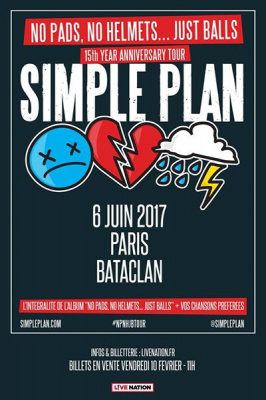Simple Plan en concert au Bataclan de Paris en juin 2017