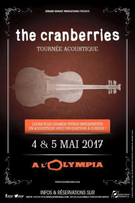 The Cranberries en concerts à l'Olympia de Paris en mai 2017