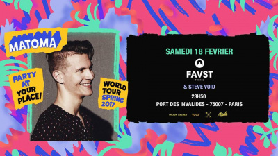 Matoma : Party at Your Place au Faust