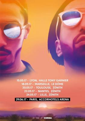 PNL en concert à l'Arena Bercy de Paris en juin 2017