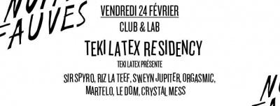 Teki Latex Residency au Club Nuits Fauves