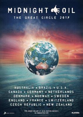Midnight Oil en concert à l'Olympia de Paris en juillet 2017