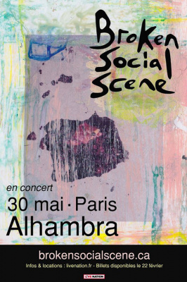 Broken Social Scene en concert à l'Alhambra de Paris en mai 2017