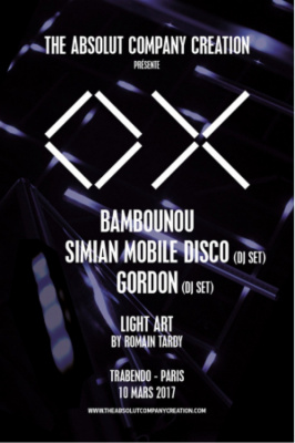 The Absolut CC présente Bambounou, Simian Mobile Disco et Gordon au Trabendo