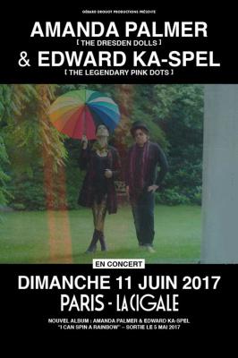 Amanda Palmer & Edward Ka-Spel en concert à La Cigale de Paris en juin 2017
