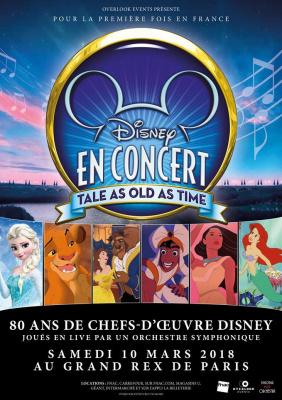 """Disney en concert : """"Tale As Old As Time"""" au Grand Rex de Paris en 2018"""