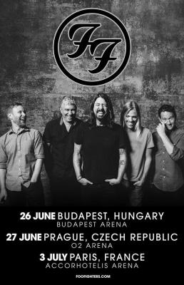 Les Foo Fighters en concert à l'Arena Bercy de Paris en juillet 2017