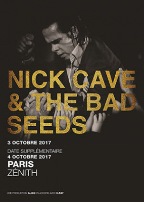 Nick Cave & The Bad Seeds en concerts au Zénith de Paris en octobre 2017