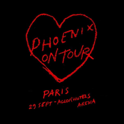 Phoenix en concert à l'Arena Bercy de Paris en septembre 2017
