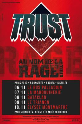 Trust en tournée parisienne en novembre 2017
