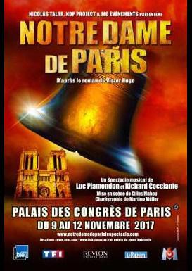 Notre Dame de Paris : la comédie musicale de retour au Palais des Congrès en novembre 2017