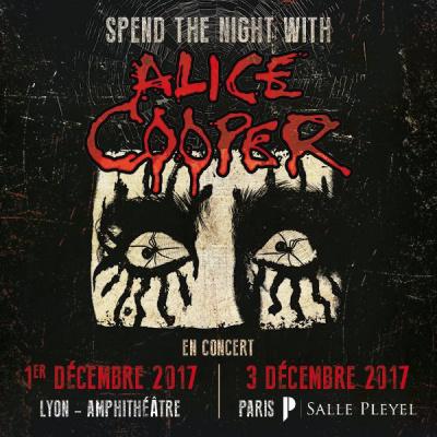 Alice Cooper en concert à La Salle Pleyel de Paris en décembre 2017
