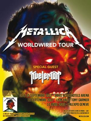 Metallica en concerts à l'Arena Bercy de Paris en septembre 2017