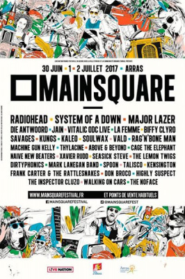 Main Square Festival 2017 à Arras : dates, programmation et réservations
