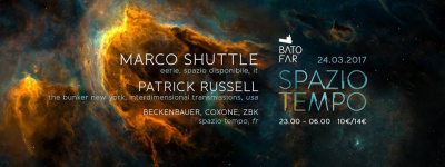 Spazio Tempo au Batofar avec Marco Shuttle