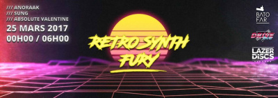 Retro Synth Fury au Batofar avec Anoraak