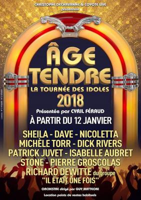 Âge Tendre, la tournée des idoles au Zénith de Paris en 2018