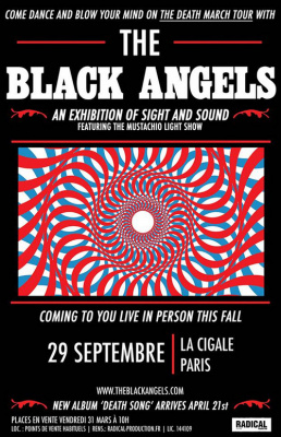 The Black Angels en concert à La Cigale de Paris en septembre 2017