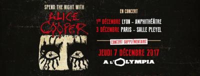 Alice Cooper en concert à l'Olympia de Paris en décembre 2017