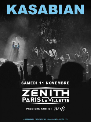 Kasabian en concert au Zénith de Paris en novembre 2017