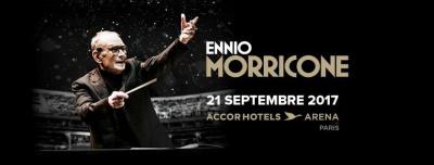 Ennio Morricone en concert à l'Arena Bercy de Paris en septembre 2017