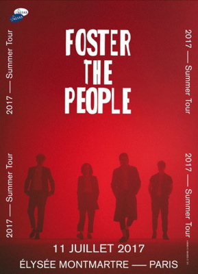 Foster The People en concert à L'Elysée Montmartre de Paris en juillet 2017