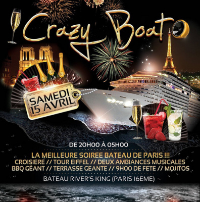 Nouvelle Crazy Boat Party au River's King