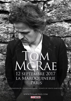 Tom McRae en concert à La Maroquinerie de Paris en septembre 2017