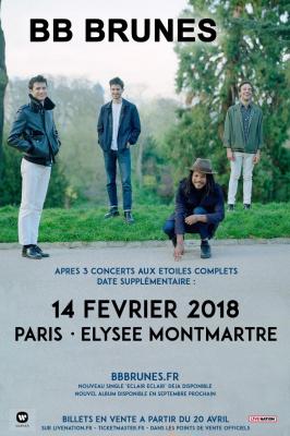 Les BB Brunes en concert à L'Elysée Montmartre de Paris en février 2018