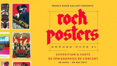 Rock Posters Rendez-Vous #1 à la French Paper Gallery