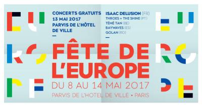 Fête de l'Europe 2017 sur le parvis de l'Hôtel de Ville de Paris