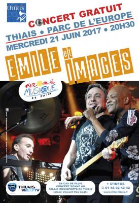 Fête de la Musique 2017 à Thiais avec Emile et Images
