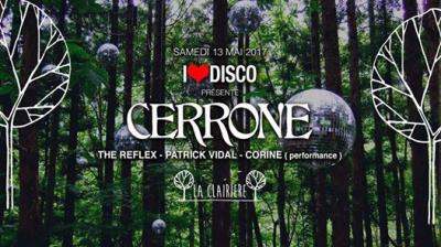 I Love Disco à La Clairière avec Cerrone