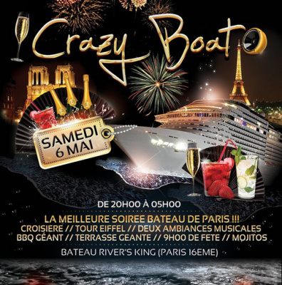 Crazy Boat Party au Bateau River's King