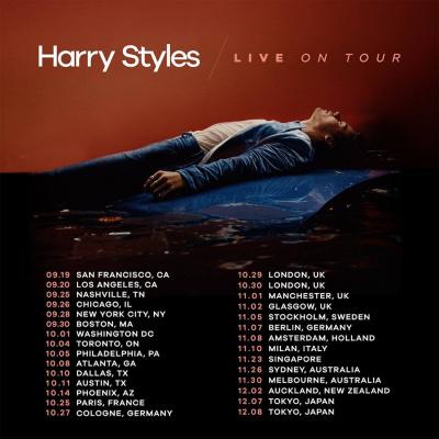 Harry Styles en concert à l'Olympia de Paris en octobre 2017