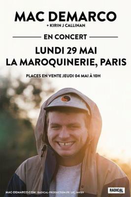 Mac DeMarco en concert à La Maroquinerie de Paris en mai 2017