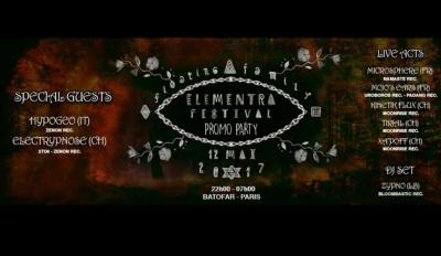 Elementra Festival Promo Party au Batofar