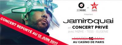Jamiroquai en concert privé Virgin Radio au Casino de Paris
