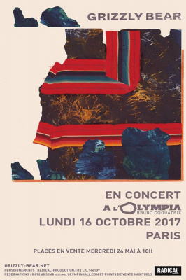 Grizzly Bear en concert à l'Olympia de Paris en octobre 2017