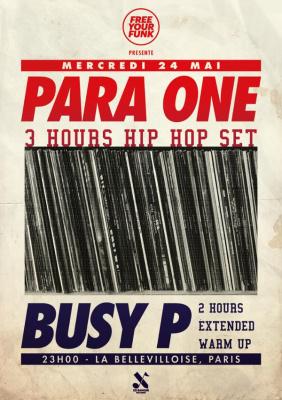 Free Your Funk à La Bellevilloise avec Para One & Busy P